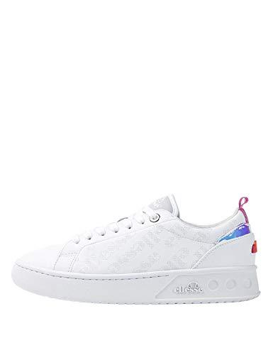 Ellesse Mezzaluna, Zapatillas de Deporte Mujer, Blanco (White 000), 40.5 EU