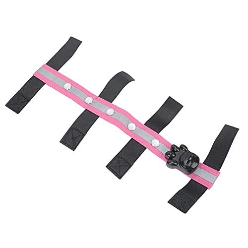 Cinturón LED ecuestre, diseño de gancho y bucle para cabeza de caballo LED para exterior para ecuestre(pink)