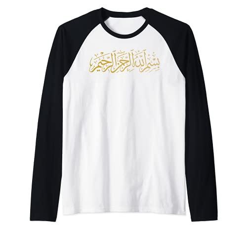 Bismillah Islam Islamic Arabic Calligraphy Gift Idea Raglan