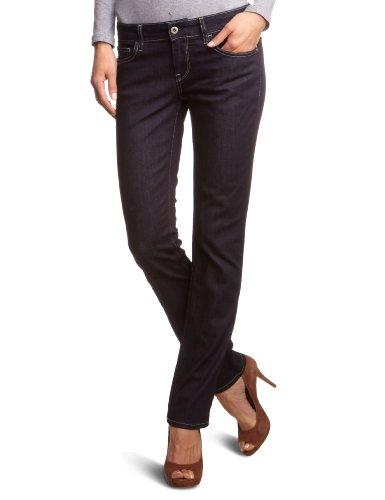 Meltin Pot Damen Jeans MELIA D1586-RW015 Straight Fit (Gerades Bein) Normaler Bund Blau (BS13) 25W / 34L