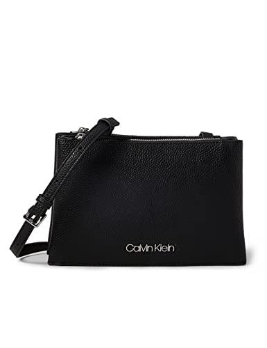 Calvin Klein - Sided Trio Crossbody, Bolsos bandolera Mujer, Negro (Black), 1x1x1 cm (W x H L)