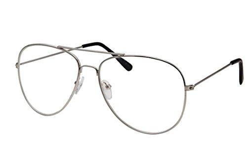Clear Lens Aviator Eyeglasses