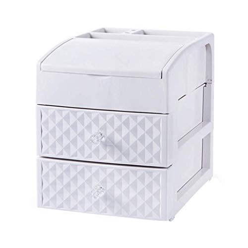 Qiutianchen Kosmetiktasche Kosmetische Aufbewahrungsbox Schublade mit Spiegel Prinzessin Lippenstift...