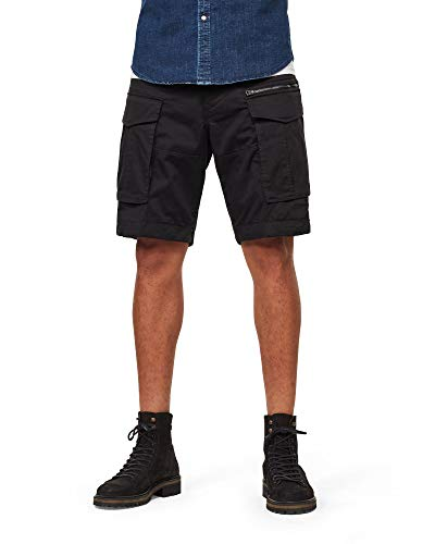 G-STAR RAW Herren Rovic Zip Relaxed 1/2-Length Shorts Shorts, Schwarz (Black 990), 36W