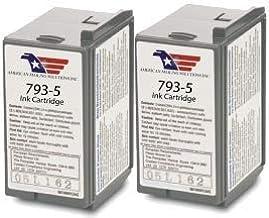 2 Pack Compatible Pitney Bowes Postage Meter Ink Cartridge 793-5, P700, DM100, DM100i & DM200L Postage Meters