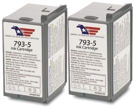 2-Pack Compatible Postage Meter Ink Cartridge for Pitney Bowes 793-5, P700, DM100, DM100i & DM200L Postage Meters