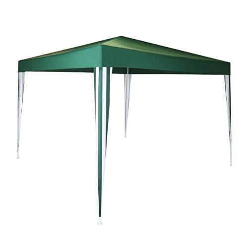 Charles Bentley 3x3m Polyester Gazebo Green/Stripe Showerproof