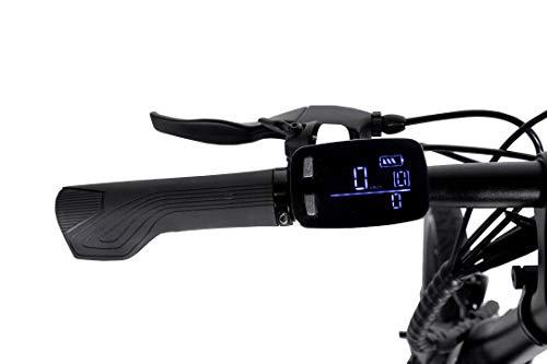 SYKLUS Vélo électrique « Scooter Mode » Pliable, Autonomie 40-55km, Batterie Lithium 36V 7,5AH Moteur 36V 250W, Vitesse 25km/h, Ecran LCD, Eclairage LED (e-Bike)