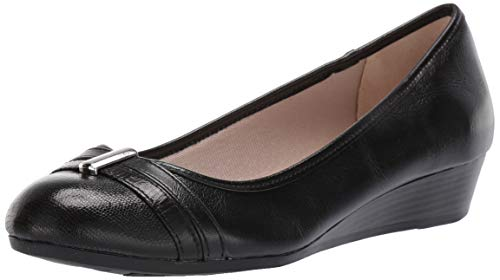 LifeStride Womens Frances Pump, Black, 6 W US