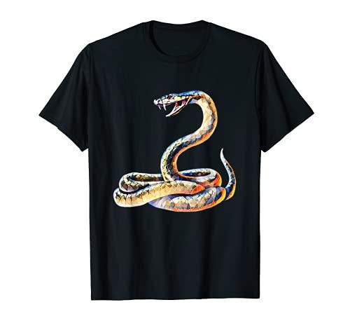 Cobra Motiv Schlange Terrarium giftiges Reptil Schlangen T-Shirt