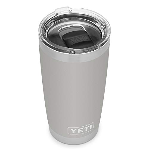 YETI Rambler 20 oz Tumbler, Stainless Steel, Vacuum Insulated with MagSlider Lid, Granite Gray