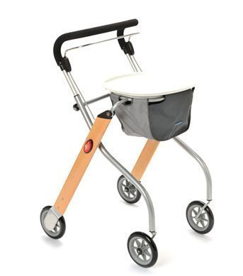 Trust Care Indoor Rollator Let's Go Holz silber by TRUST CARE