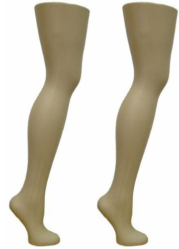2 Free Standing Female Mannequin Leg Sock and Hosiery Display Foot 28' Tall or Christmas Leg Lamp (SCK-FR-2)