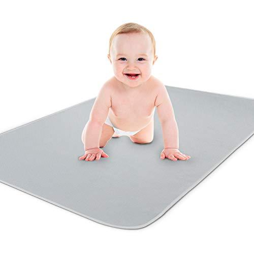 Yoofoss Inkontinenzauflage Waschbar Baby Schnelltrocknende Matratzenauflage Wasserdicht 75x90 cm 70x140 cm Matratzenschoner Wickelauflage Wickelunterlage für Kinder Erwachsene Haustier