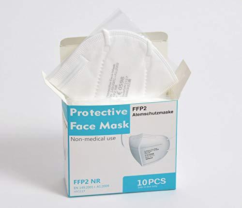 Premium Mundschutz Atemschutzmasken zertifizierte FFP2 Masken Infektionsschutz Gesichtsmaske Staubschutz Schutzmaske (20 Stück) - 2