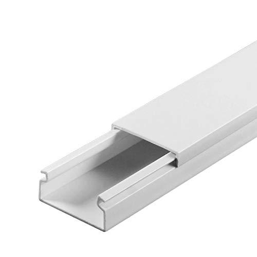SCOS Smartcosat SCOSKK173 1 m Kabelkanal (L x B x H 1000 x 20 x 13 mm, PVC, Kabelleiste, Schraubbar) weiß