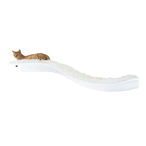 The Refined Feline Lotus Branch Cat Shelf - White -  LOT-BRAN-WH