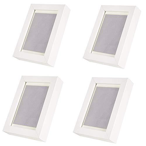 Ikea Ribba Bilderrahmen, Weiß, 4 x 6 cm, 4 Stück