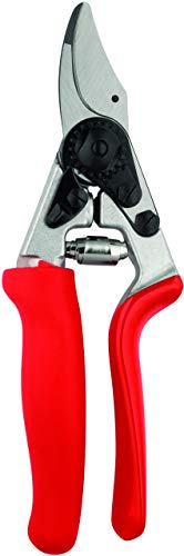 Felco Pruning Shears (F 12) - High Performance Swiss Made One-Hand Garden Pruner with Steel Blade