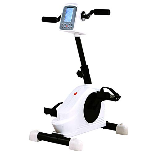 ZZLYY Indoor Pedal Exerciser, Adjustable Resistance Arm & Leg Fitness Training Machine for Handicap, and Stroke Survivor,Electronic Physical Therapy Rehabilitation Bike