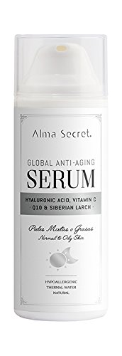 Alma Secret Sérum anti-âge global avec Q10, Hyaluronique, Vitamine C & Alerce - 50 ml