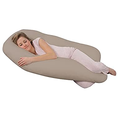 Leachco Back 'N Belly Original Pregnancy/Maternity Contoured Body Pillow, Tea