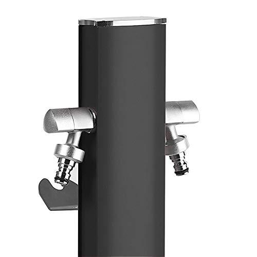 TRIANGLE Aquapoint - Columna de agua con 2 grifos Aquapoint, color negro mate
