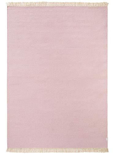 Benuta Wollteppich Liv Rosa 140x200 cm - Naturfaserteppich aus Wolle