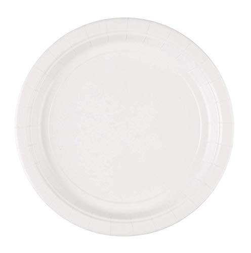 amscan 8 Platos Blancos