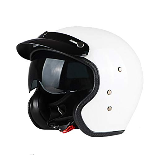 Jet Helmet Casco de Moto Retro para Hombre y Mujer, de 58-59...