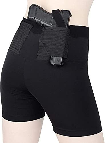 LSWY Pistolas Cortas, Leggings Funda con Dos Bolsillos de Pistola Ropa Ocultamiento, Tela Alta elástica para...