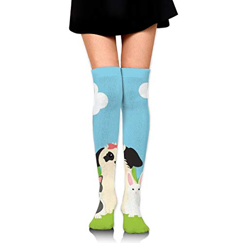 Group Of Mascots In The Field Women's Over Knee Thigh Socks Girl High Stockings 65 Cm/25.6In
