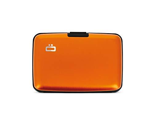 Ögon Smart Wallets - Stockholm Cartera Tarjetero - Protección RFID: Protege Tus Tarjetas de Robar - hasta 10 Tarjetas + Recetas + Notas - Aluminio anodizado (Naranja)