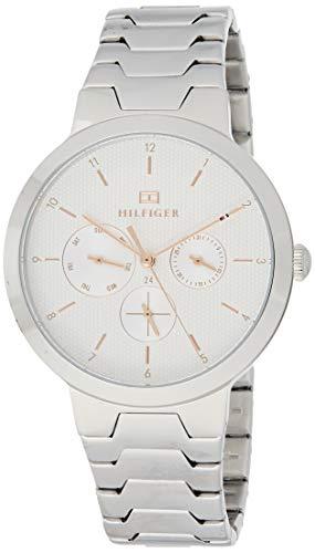 Tommy Hilfiger Damen Multi Zifferblatt Quarz Uhr mit Edelstahl Armband 1782075