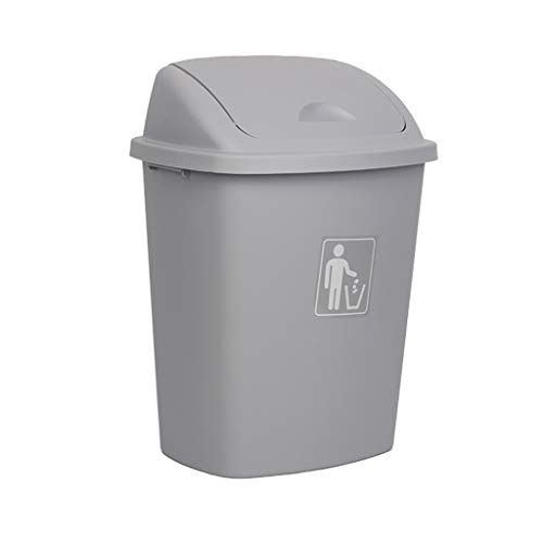 Affordable WQEYMX Outdoor Trash can Swing Box Home Garden Kitchen Garbage Recycling Plastic Trash Wh...