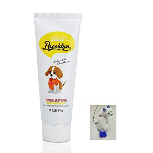 Fuwahahah - Tinte de pelo para perros (80 g), color crema natural...