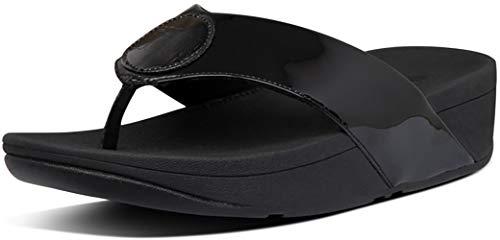 FitFlop Demelza Logo Toe-Thong All Black 9 M (B)