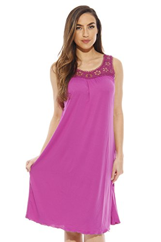 1541B-Purple-L Just Love Nightgown / Women Sleepwear / Sleep Dress,Bright Purple,Large