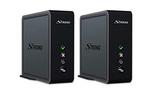 STRONG Connection Kit Duo 1700 (LAN-Bridge bis 1733 Mbit/s, entwickelt für Smart TV und Spielekonsolen, 5 GHz WiFi, für Mesh WLAN, 2X LAN, WPS) Schwarz