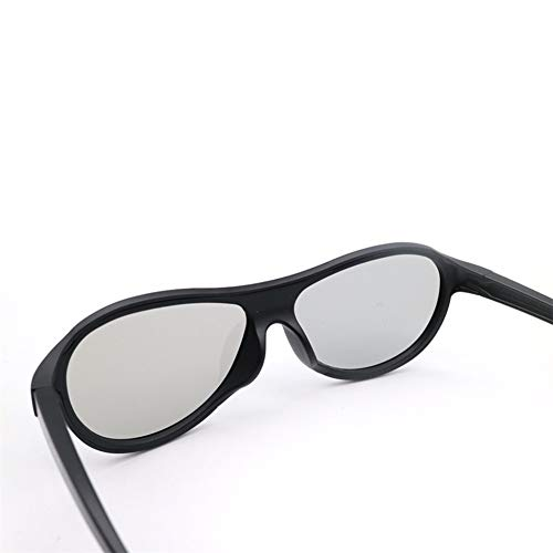 YABAISHI 4pcs / Lote Reemplazo AG-F310 Gafas 3D Pasivo polarizado Vagas pasivas para LG TCL Samsung Sony Konka Reald 3D Cinema TV Computadora