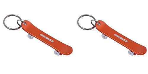 munkees 2 x Schlüsselanhänger Flaschenöffner Skateboard, Doppelpack, Orange, 342539