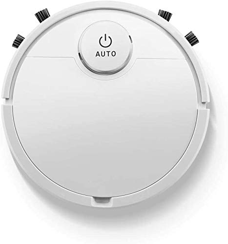 Robot Vacuum Cleaner, 3 in 1 Automatic Vacuuming/Mopping/Sweeping Ultra Slim Quiet Intelligent Sweeping Robot, 1800Pa Strong Suction, Pet Hair, Carpet,White