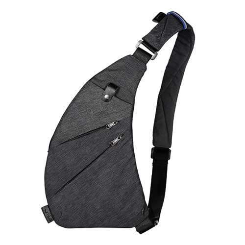 Aina - Tiene 3 bolsas de pecho de estilo para hombre, bolsas de mensajero, bolsas multifuncionales, bolsas de hombro, bolsas de vino, bolsa anti-Thiry, gris, S,
