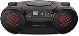 Energy Sistem Boombox 6 (Portable Bluetooth Speaker, CD Player, 12 W, LED lights, USB&SD MP3 player, FM Radio)