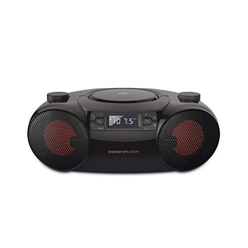 Energy Sistem Boombox 6 Altavoz portátil con Bluetooth (Bluetooth, CD Player, 12 W, LED Lights, USB&SD MP3 Player, FM Radio)