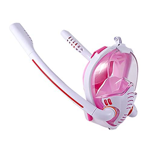 Aimir Máscara De Buceo De Cara Completa, Adultos Snorkel Buceo Paquete De Paquete De Buceo Tubo De Respiración Doble 180 ° Máscara De Snorkel Plegable Panorámica,D,M