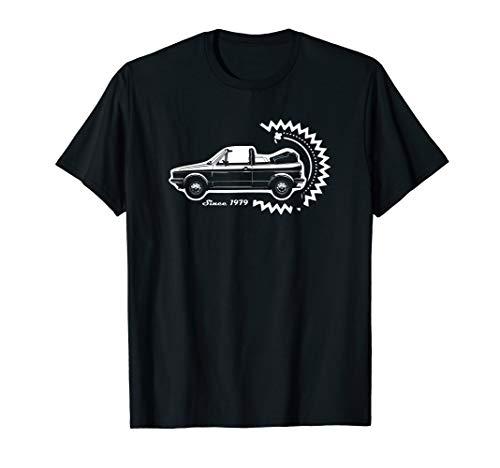 Golf 1 GTI Cabrio Golf1 Youngtimer Oldtimer Golffahrer Auto T-Shirt