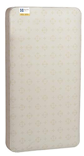 "Sealy Baby Posture Haven Antibacterial 2-Stage Dual Firmness Waterproof Standard Toddler & Baby Crib Mattress, 51.63"" X 27.25"""