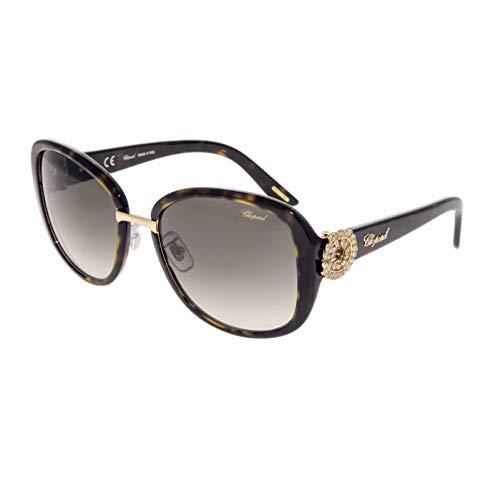 Chopard Gafas de Sol Mujer SCH-186S-0722 (Diametro 57 mm), Havana Gold, Talla Unica Unisex-Adult