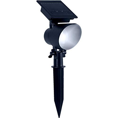 Duracell Solar-LED-Strahler für den Garten, 15 Lumen, Kunststoff-Finish, Schwarz